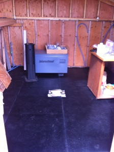 Rubber flooring done