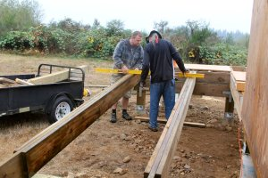 Colin and Charles building the access ramp