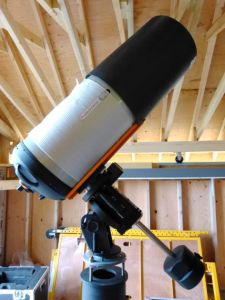 telescope for the observatory on its mount for the first time