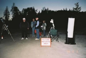 Early star party in Kinnickinick Park