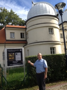 Errol in front of the Stefank Observatory