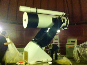 half meter cassegrain telescope in the Gordon Macmillan Southam Observatory at the Space Center