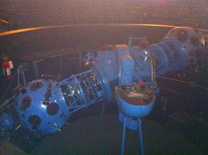 """""""Harold"""", the retired projector in the HR Macmillan Space Centre Planetarium. A year ago a new computer projection system replaced him."""