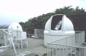 Rooftop observatory in Tokyo