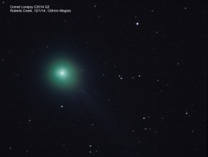Comet Lovejoy photographed by our past president Mike on Jan 14