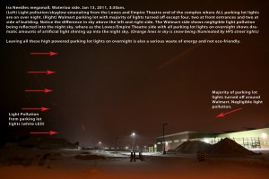 Kitchener Waterloo Centre took this photo documenting the effects of light pollution at night