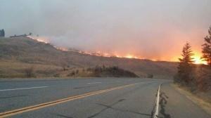 Fire near Mt. Kobau star party